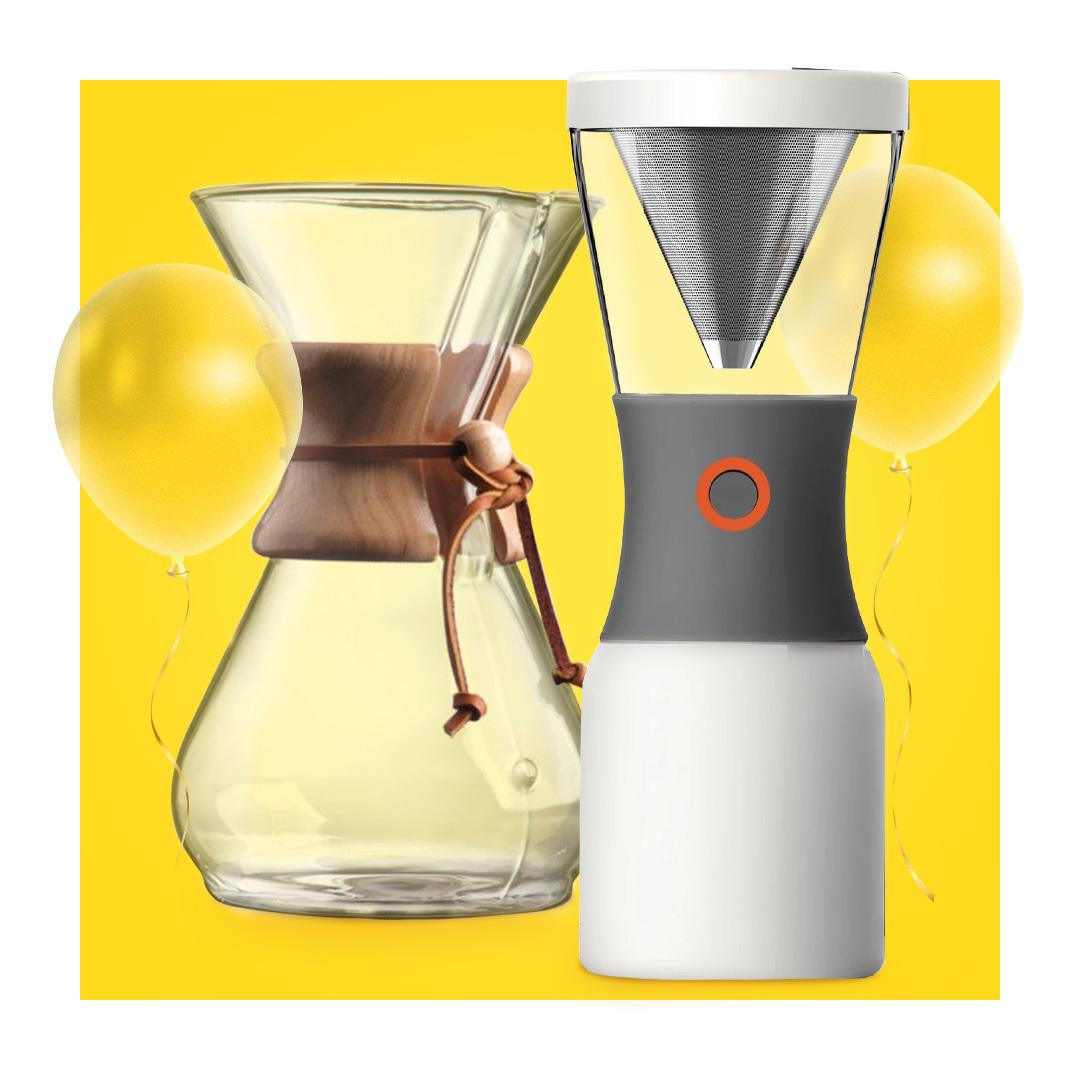Kahvinkeittimet ja valmistusvälineet -20%