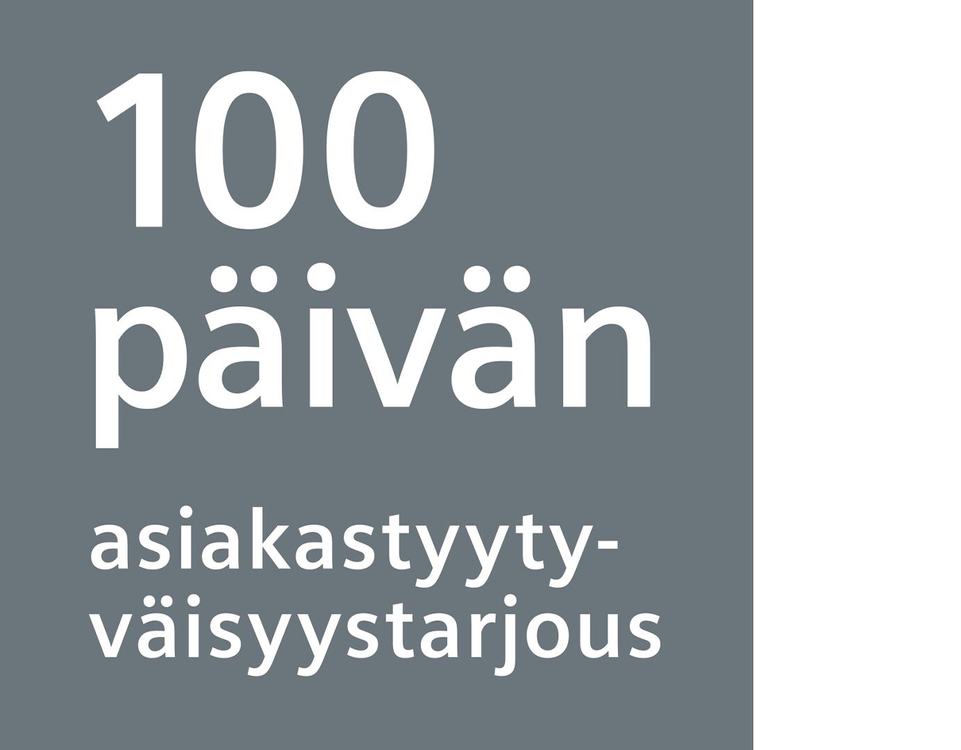 100 päivän tyytyväisyystakuu