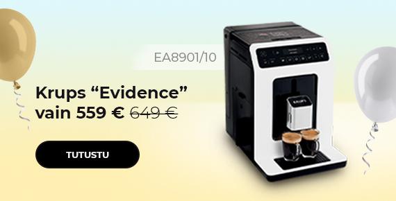 """Krups """"Evidence EA8901/10"""" kahvikone vain 559 €"""
