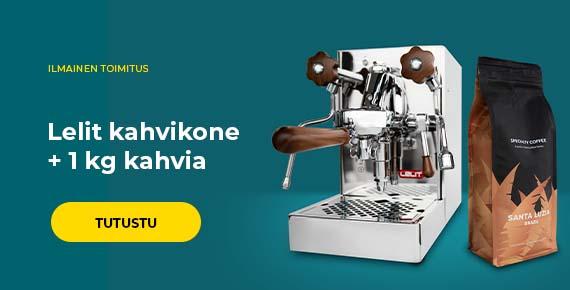 Lelit kahvikone + 1 kg kahvia