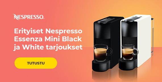 Erityiset Nespresso Essenza Mini Black ja White tarjoukset
